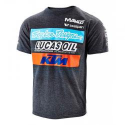 T-Shirt Troy Lee Design KTM Lucas Oil - Charcoal