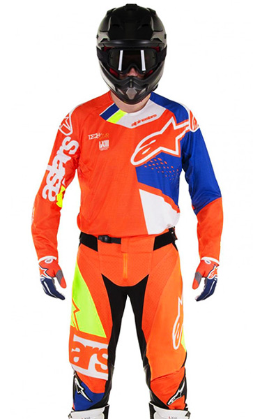 tenue cross alpinestars techstar factory o fluo bleu blanc 2 fx motors. Black Bedroom Furniture Sets. Home Design Ideas