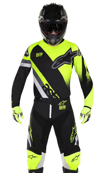 tenue cross alpinestars racer supermatic noir jaune fluo 201 fx motors. Black Bedroom Furniture Sets. Home Design Ideas