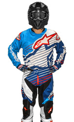 Tenue Cross Alpinestars Racer Braap Cyan/White/Dark Blue 2017