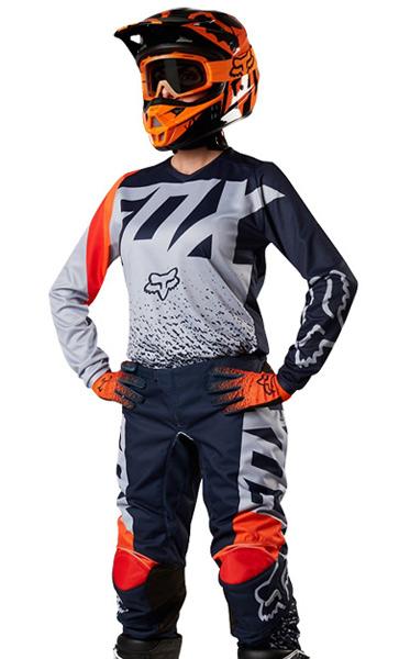 tenue cross femme fox racing 180 gris orange 2018 fx motors. Black Bedroom Furniture Sets. Home Design Ideas