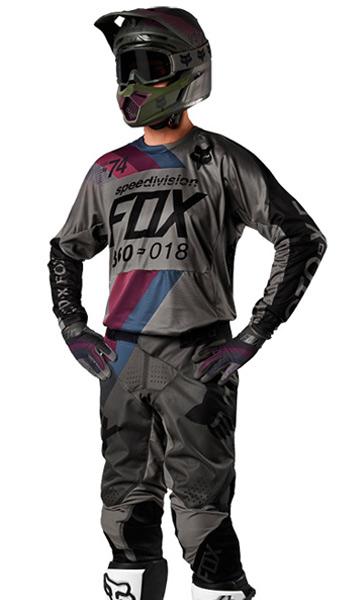 tenue cross fox racing 360 draftr gris fonc 2018 fx motors. Black Bedroom Furniture Sets. Home Design Ideas