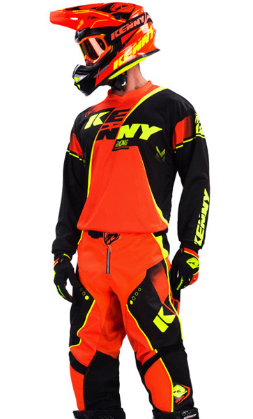 tenue cross kenny track noir orange fluo 2017 fx motors. Black Bedroom Furniture Sets. Home Design Ideas
