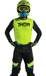 Tenue Cross THOR MX Prime Fit Rohl Yellow Fluo/Black