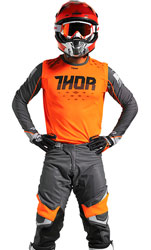 Tenue Cross THOR MX Prime Fit Rohl Orange Fluo/Gray