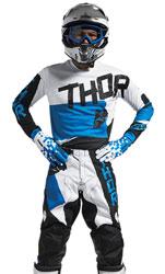 Tenue Cross THOR MX Pulse Taper White/Blue