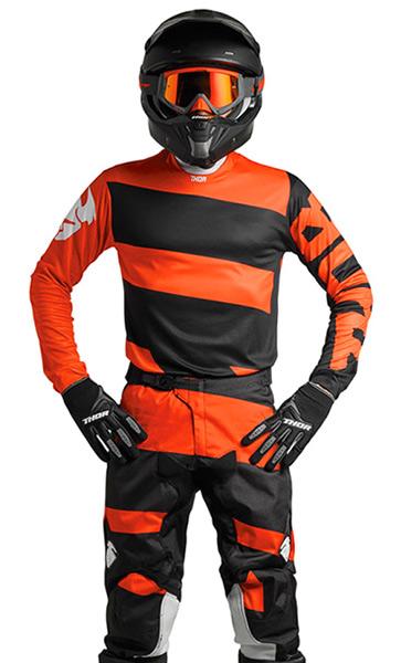 tenue cross thor mx pulse level noir orange 2018 fx motors. Black Bedroom Furniture Sets. Home Design Ideas