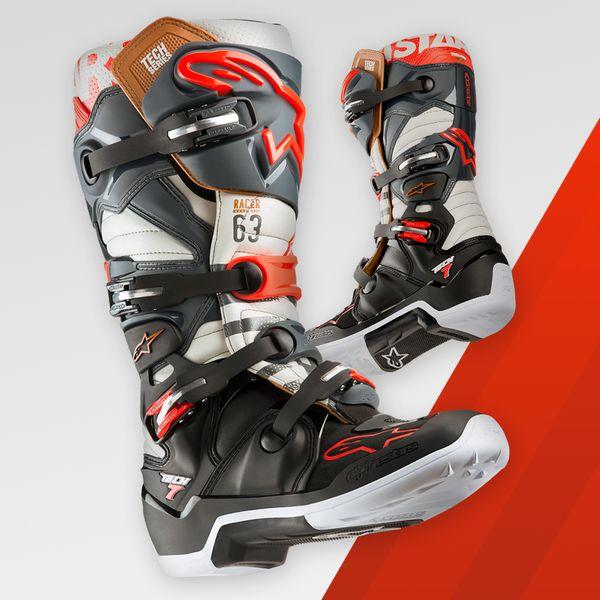 bottes motocross alpinestars tech 7 blackjack gris noir roug fx motors. Black Bedroom Furniture Sets. Home Design Ideas
