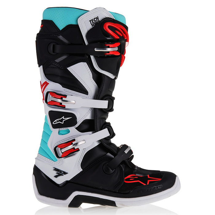 bottes motocross alpinestars tech 7 black turquoise white re fx motors. Black Bedroom Furniture Sets. Home Design Ideas