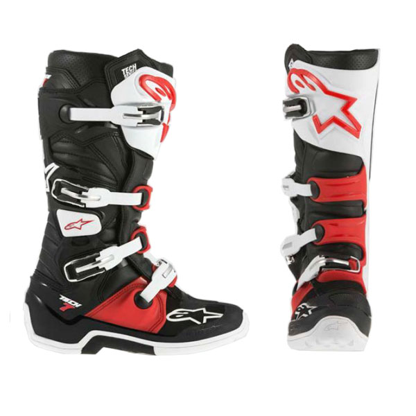 bottes motocross alpinestars tech 7 black red white fx motors. Black Bedroom Furniture Sets. Home Design Ideas