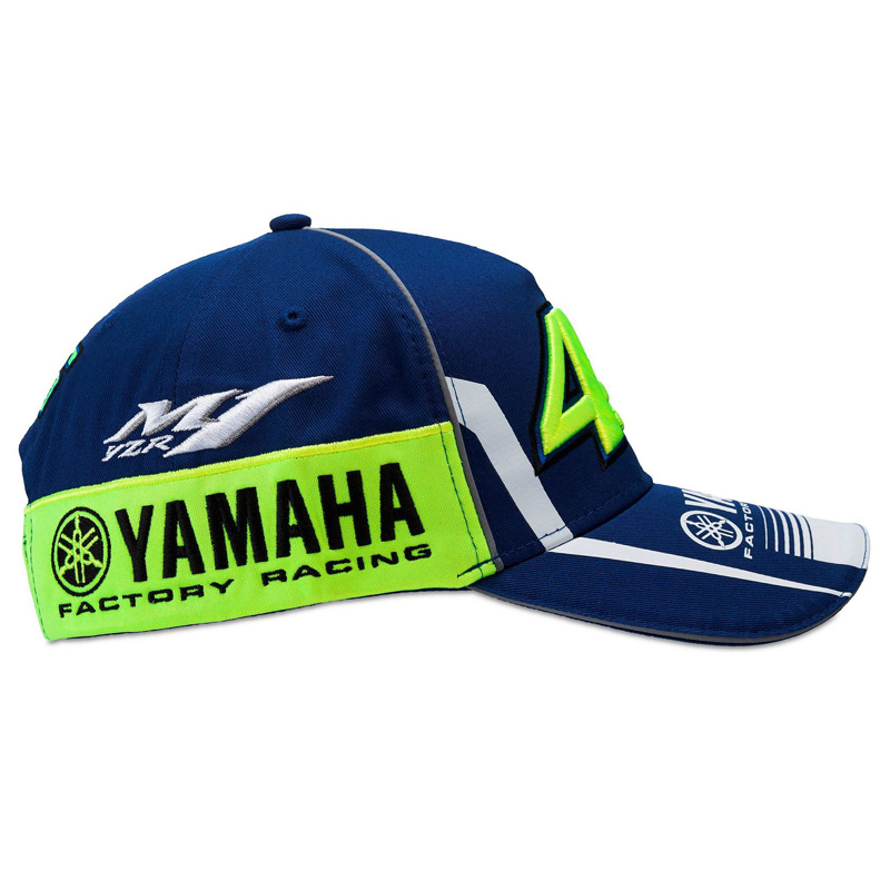 casquette vr46 yamaha racing bleu snapback fx motors. Black Bedroom Furniture Sets. Home Design Ideas