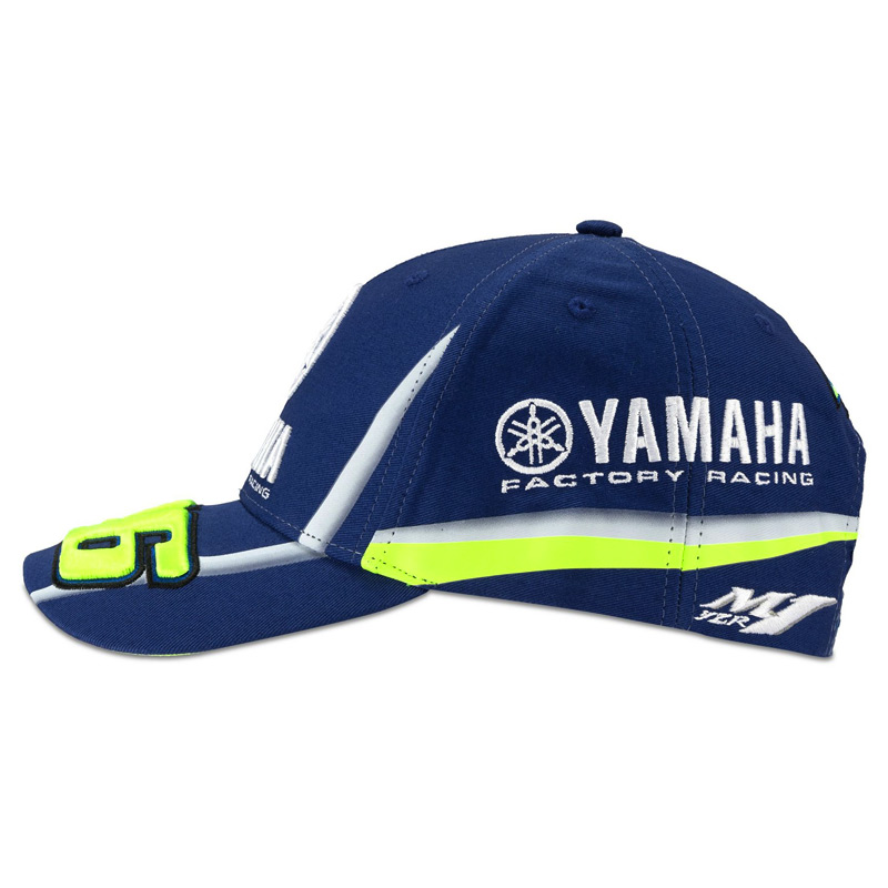 casquette vr46 yamaha racing bleu snapback 2018 fx motors. Black Bedroom Furniture Sets. Home Design Ideas