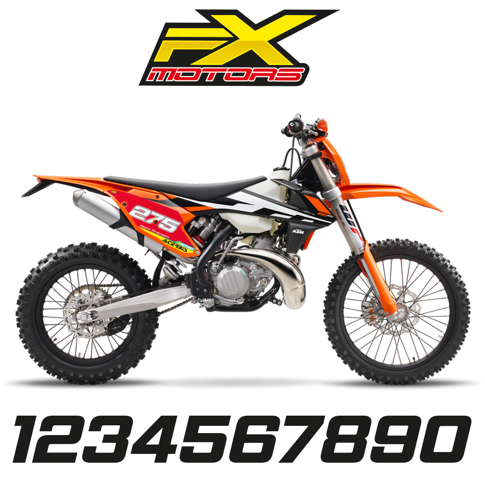 fonds de plaques enduro perso ktm exc exc f 2017 factory lin fx motors. Black Bedroom Furniture Sets. Home Design Ideas
