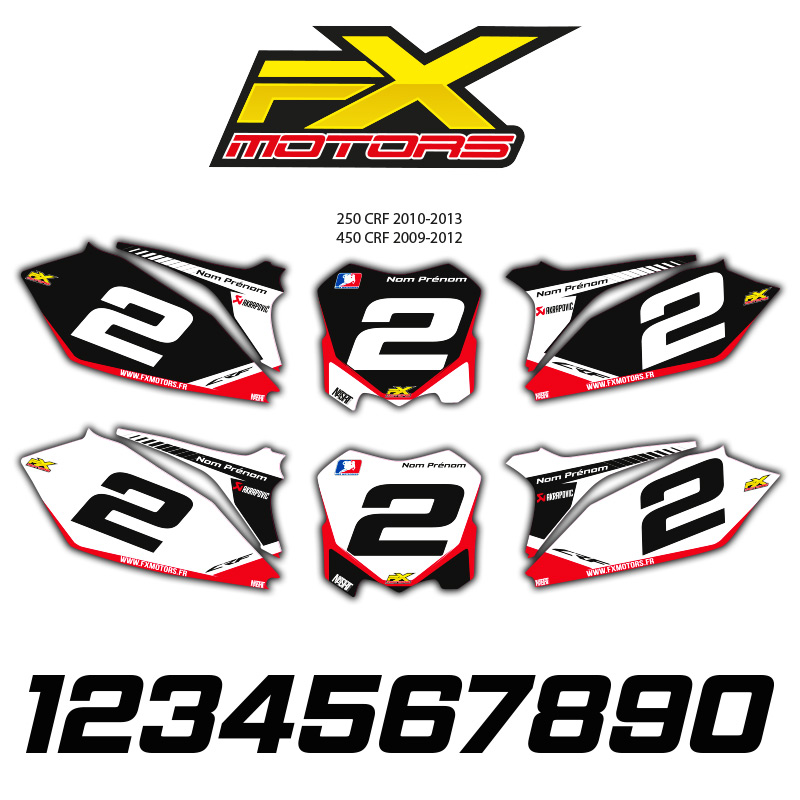 fonds de plaques motocross perso honda cr crf racing line fx motors. Black Bedroom Furniture Sets. Home Design Ideas