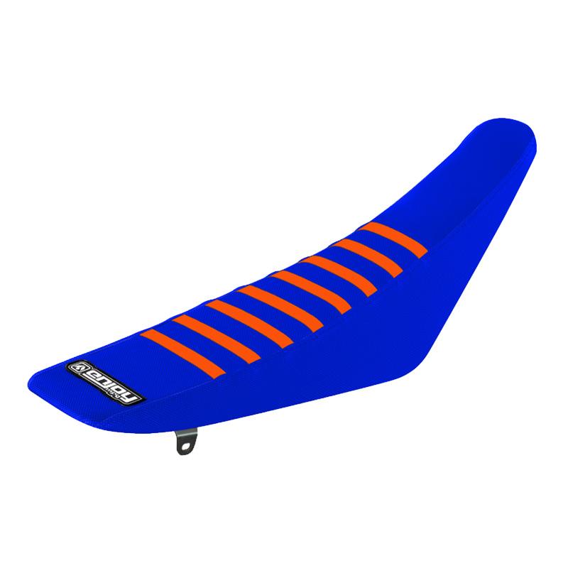 housse de selle motocross grip enjoy ribbed ktm bleu orange fx motors. Black Bedroom Furniture Sets. Home Design Ideas