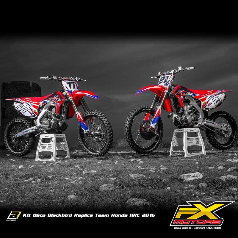 Kit D 233 Co Blackbird R 233 Plica Team Honda Hrc 2016 Fx Motors