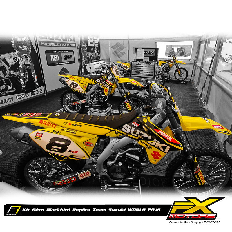 kit d co blackbird r plica team suzuki world mxgp 125 250 fx motors. Black Bedroom Furniture Sets. Home Design Ideas