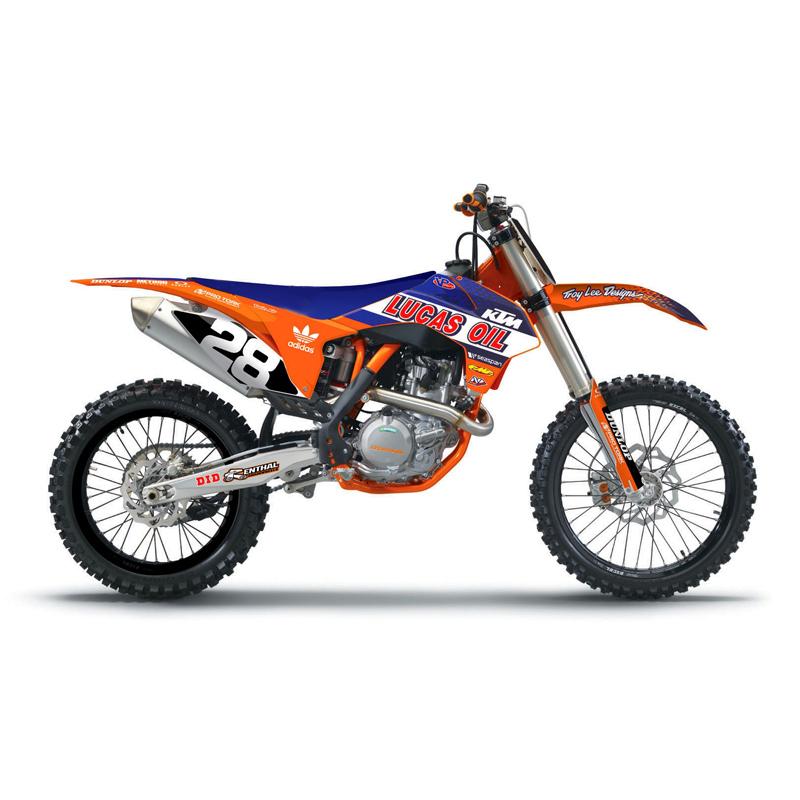 kit d co complet n style tld lucas oil ktm   fx motors