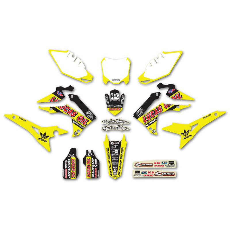 kit d co honda team tld lucas oil neon jaune fluo enjoy fx motors. Black Bedroom Furniture Sets. Home Design Ideas