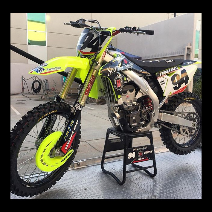 kit plastiques acerbis suzuki rmz jaune fluo fx motors. Black Bedroom Furniture Sets. Home Design Ideas