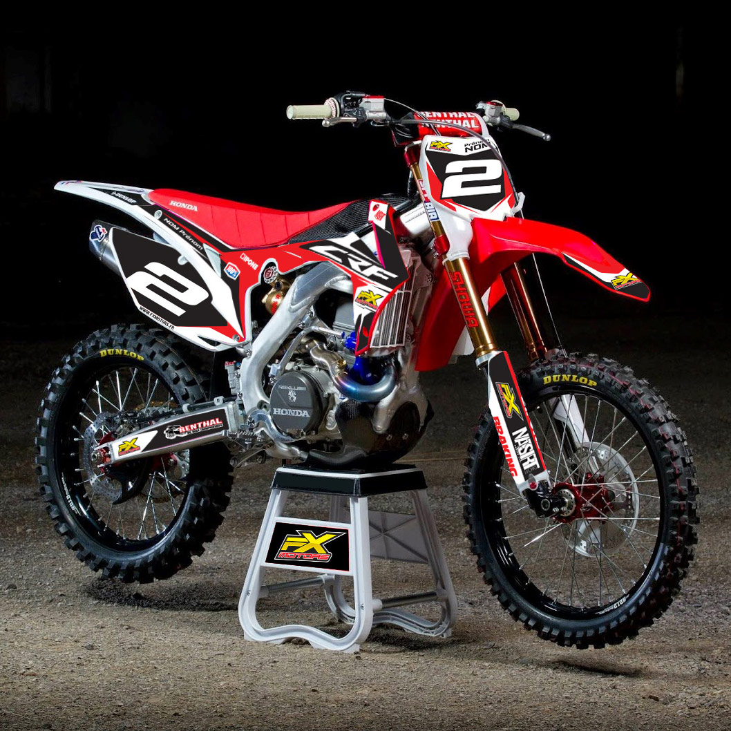 stickers protections de fourche fx racing line red cr crf fx motors. Black Bedroom Furniture Sets. Home Design Ideas