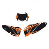 Fonds de Plaques BUD Racing - KTM SX/SXF 11-12 - NOIR