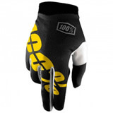 Gants Cross 100% Itrack Black/Yellow