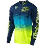 Maillot Cross TLD SE Starburst Yellow Fluo/Navy