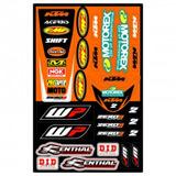 Planche de Stickers Universel KTM