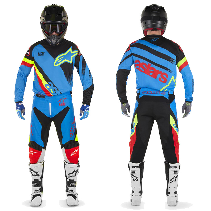 tenue cross alpinestars racer supermatic bleu noir rouge 201 fx motors. Black Bedroom Furniture Sets. Home Design Ideas