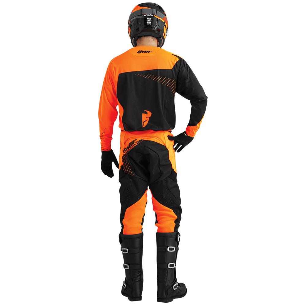 tenue cross thor mx core hux black orange fluo fx motors. Black Bedroom Furniture Sets. Home Design Ideas