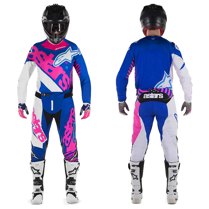 tenue cross enfant alpinestars racer venom bleu rose fluo 20 fx motors. Black Bedroom Furniture Sets. Home Design Ideas