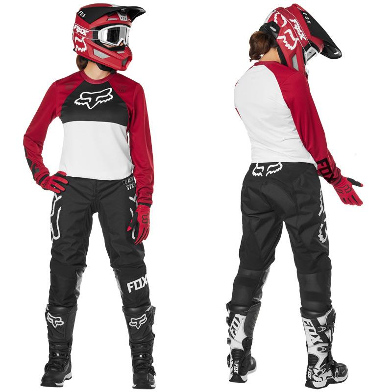 tenue cross femme fox racing 180 mata rouge 2019 fx motors. Black Bedroom Furniture Sets. Home Design Ideas