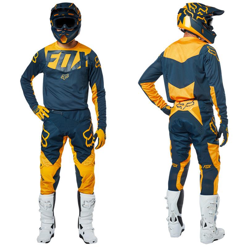 tenue cross fox racing 360 kila bleu marine jaune 2019 fx motors. Black Bedroom Furniture Sets. Home Design Ideas